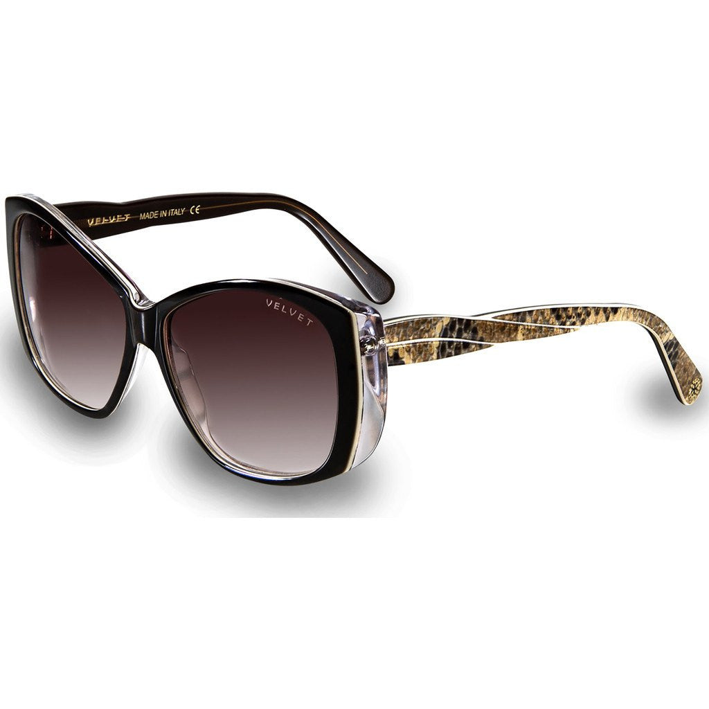 Velvet Eyewear Lucy Dark Boa Sunglasses | Brown Fade V012DB01