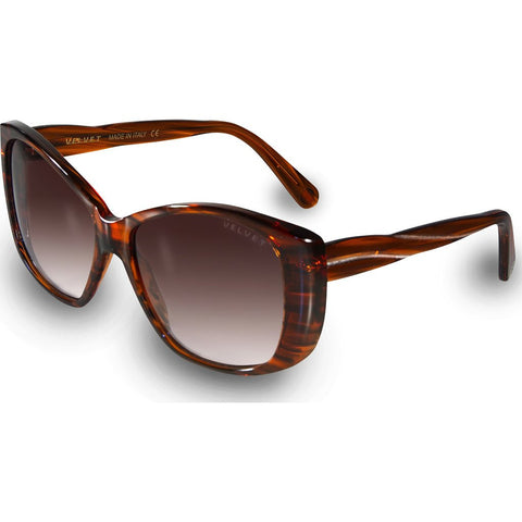 Velvet Eyewear Lucy Sunset Orange Sunglasses | Brown Fade V012SO01
