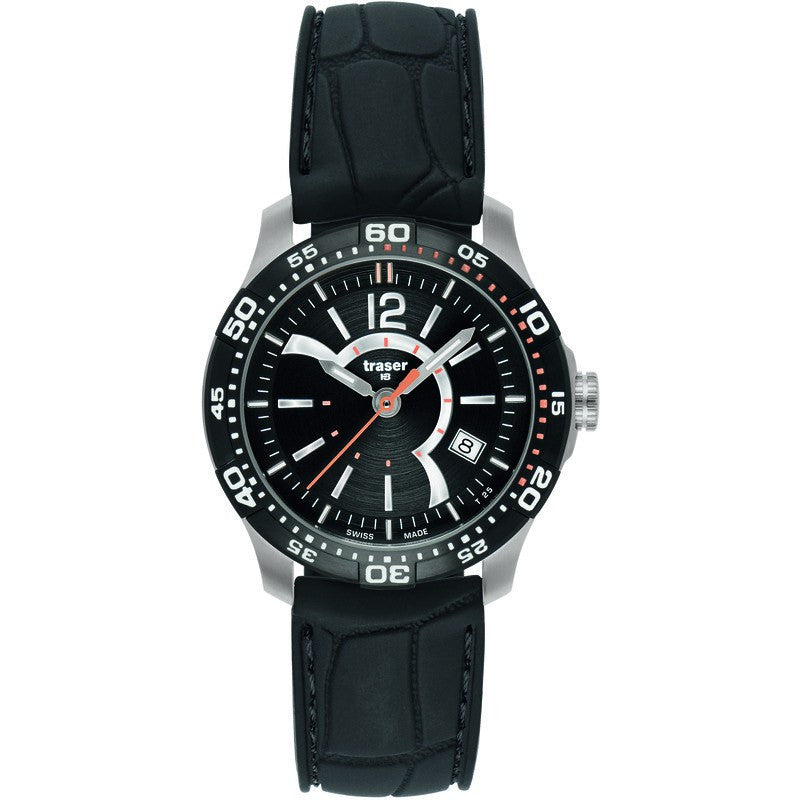 traser H3 Ladyline T7392 Ladytime Black Women's Watch | Silicone Strap