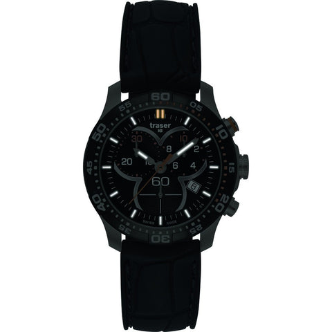 Traser H3 Ladytime Chronograph Black Watch | Silicone Strap 100314