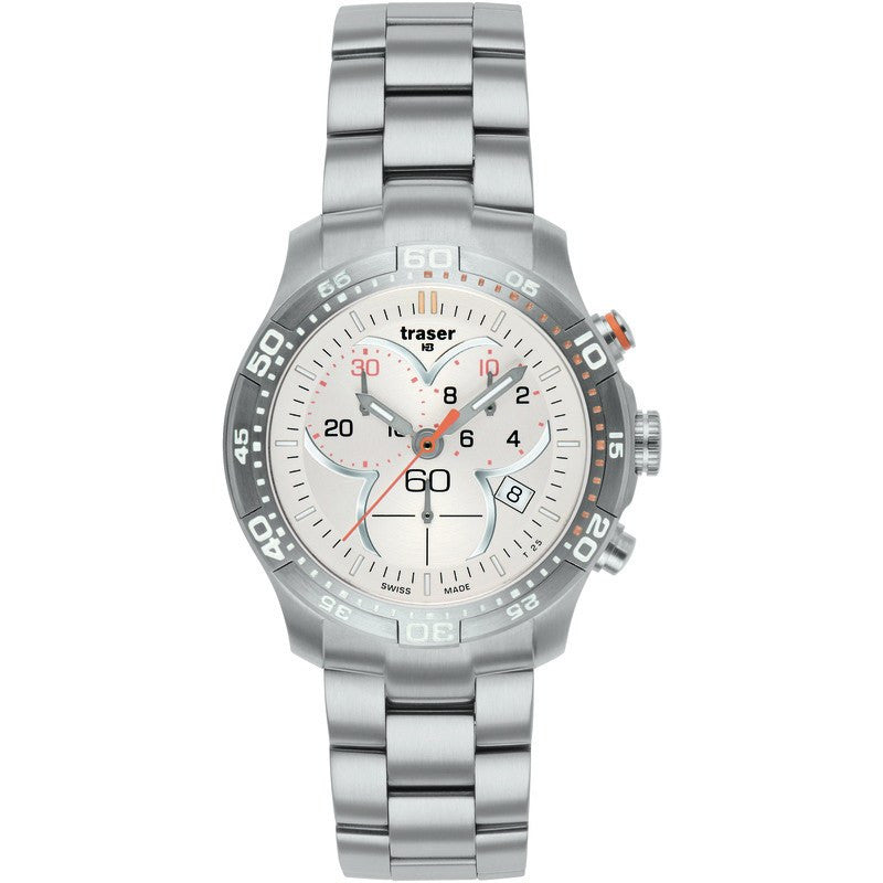 traser H3 Ladyline T7392 Ladytime Chrono Silver Women's Watch | Steel Strap
