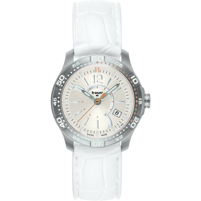 traser H3 Ladyline T7392 Ladytime Silver Women's Watch | Silicone Strap