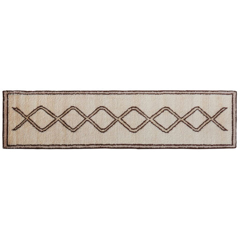 Revival Rugs Lais Hand-Knotted Rug | Walnut Brown/Sandstone
