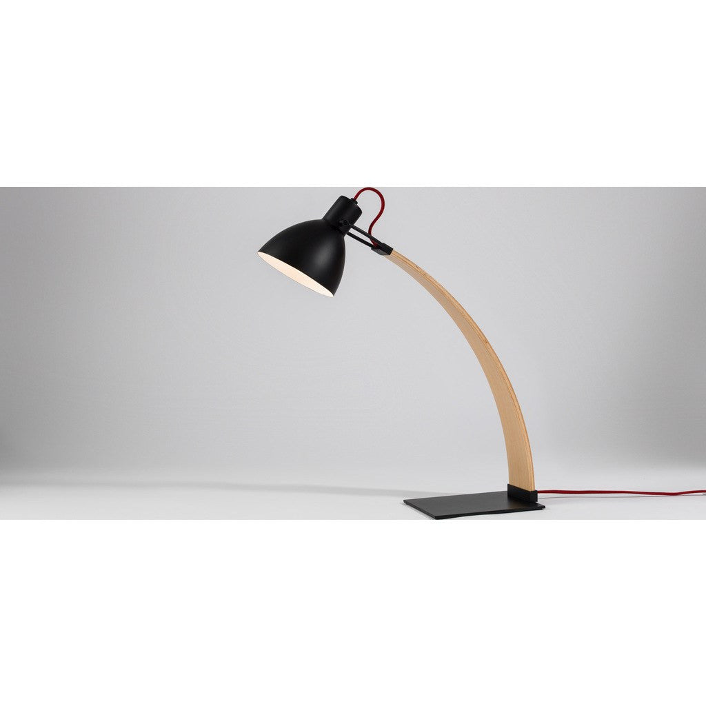 Seed Design Laito Wood Table Lamp | Black SQ-893DWR-BK