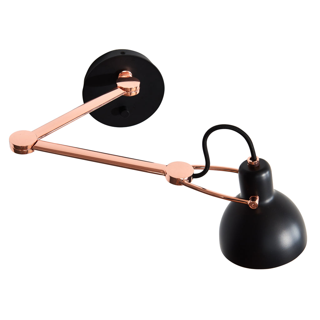 Seed Design Laito Mini Wall Lamp Large | Black/Copper