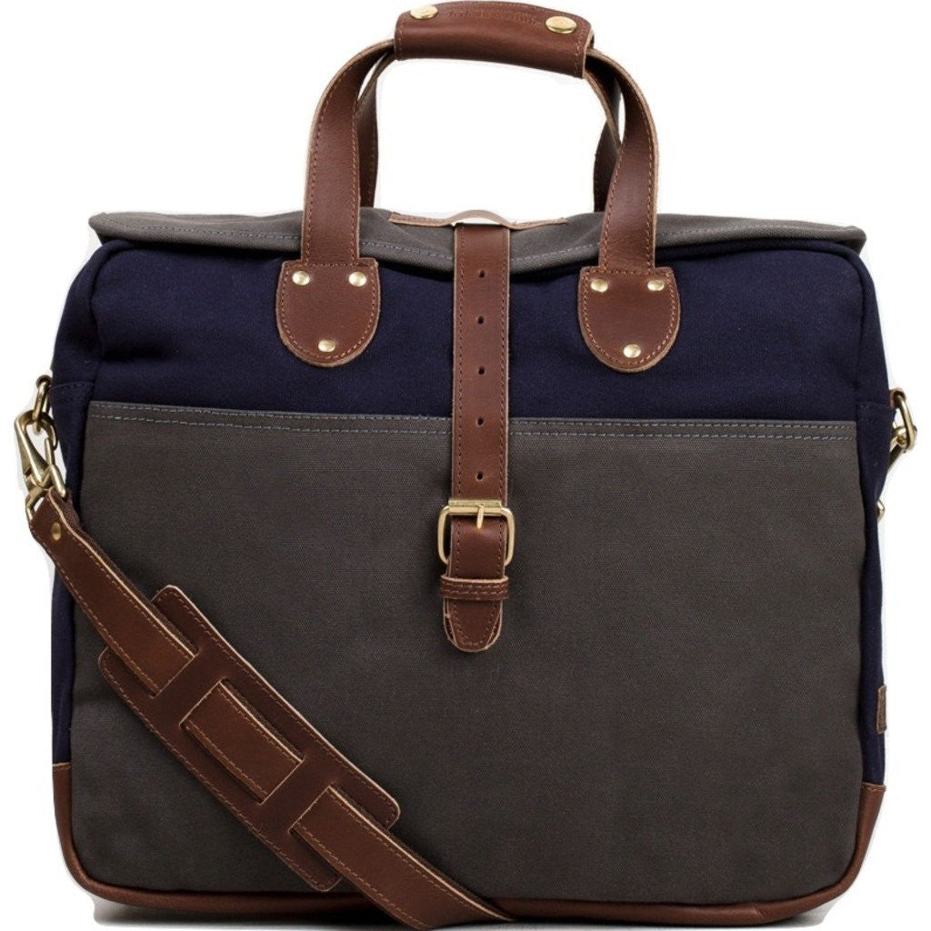 United By Blue Lakeland Laptop Messenger Bag | Grey/Navy LAKELAND-GY