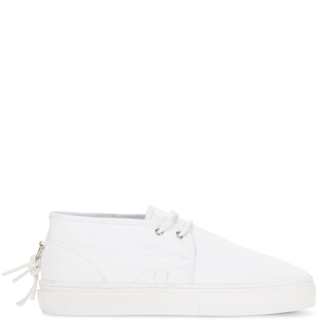 Clear Weather Lakota Slip On Shoes | White Canvas CRW-001-WHC