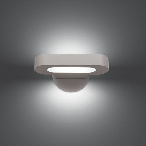 Artemide Design Talo Mini 21 Warm LED Wall Light | Silver & Grey 0615W28A
