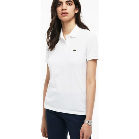 Lacoste Classic Fit Cotton Pique Women's Polo Shirt | White