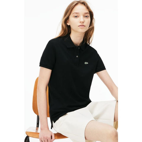 Lacoste Classic Fit Cotton Pique Women's Polo Shirt | Black