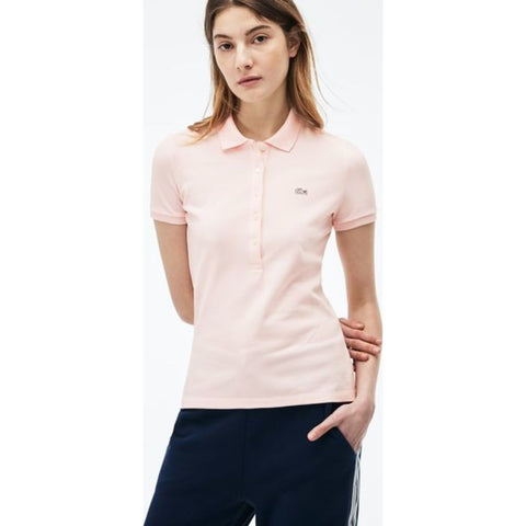 Lacoste Slim Fit Stretch Cotton Pique Women's Polo Shirt | Flamingo Pink