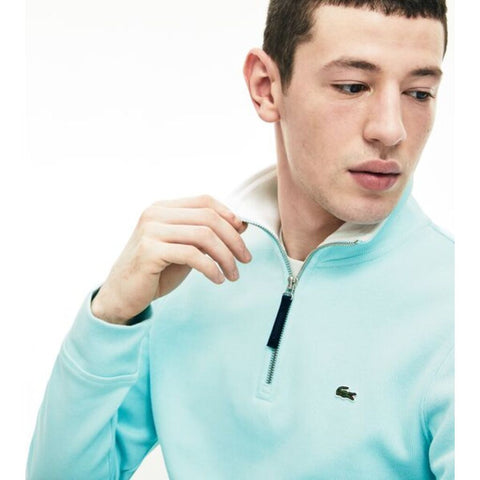 Lacoste Men's 1/4 Zippered Interlock Cotele Sweatshirt