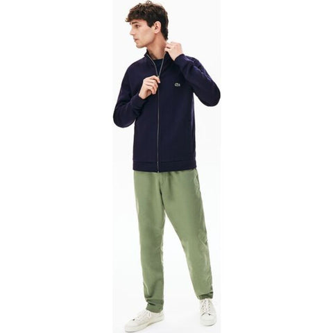 Lacoste Men's Full Zippered Fleece Sweatshirt | Navy Blue