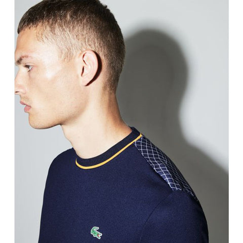 Lacoste Men's Ultra Dry Tee | Blue/White-Pomelo Th9464_Epf Xl