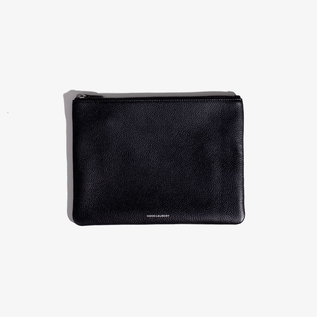 Hook & Albert Organization Leather Pouch | Black Medium LORGP-BLK-M