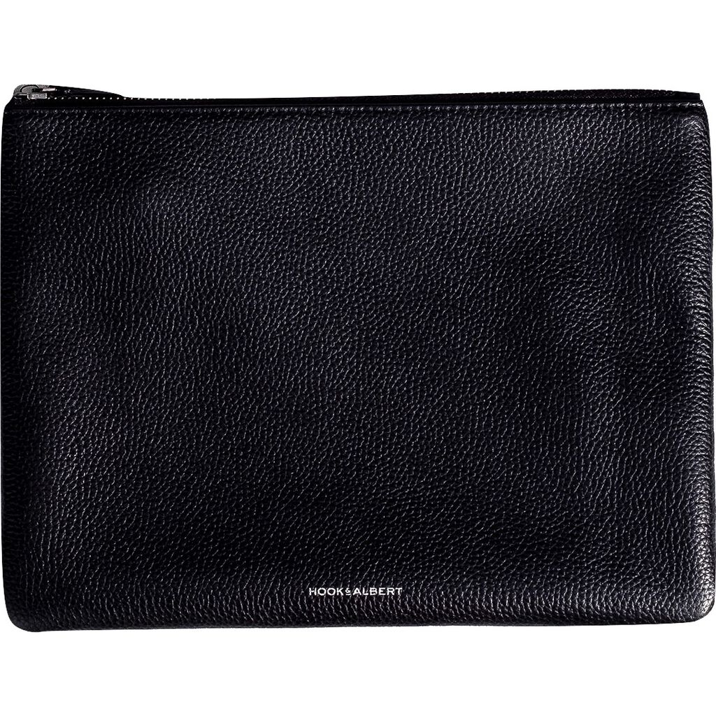 Hook & Albert Organization Leather Pouch | Black Large LORGP-BLK-L