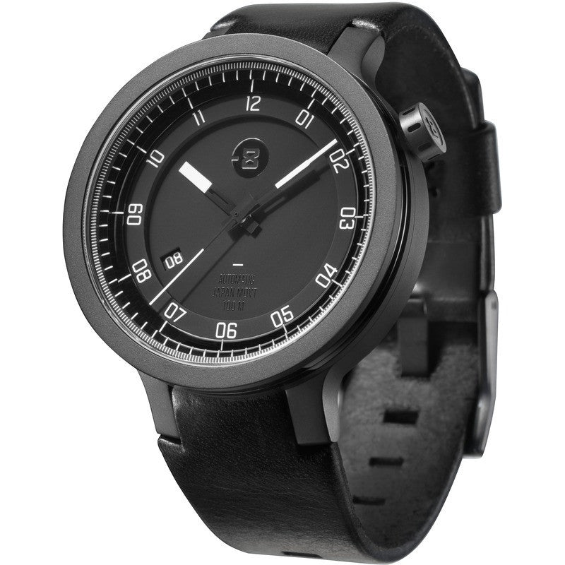 Minus-8 Layer Black/White Automatic Watch | Leather