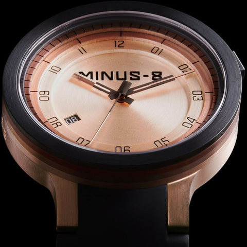 Minus-8 Layer Black/Gold Automatic Watch | Silcone