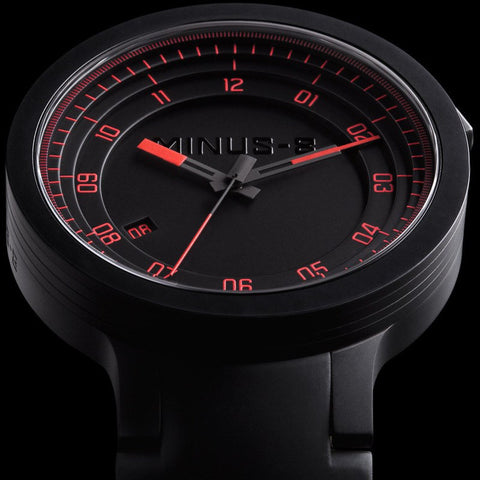 Minus-8 Layer Black/Red Automatic Watch | Silcone