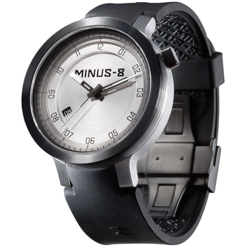 Minus-8 Layer Black/Silver Automatic Watch | Silcone