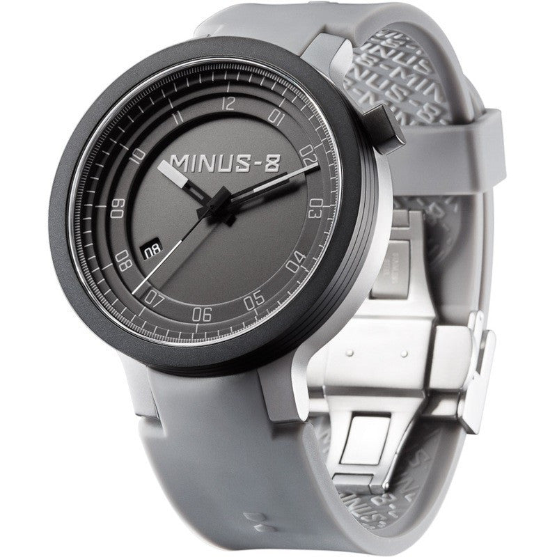Minus-8 Layer Black/Gray Automatic Watch | Silcone