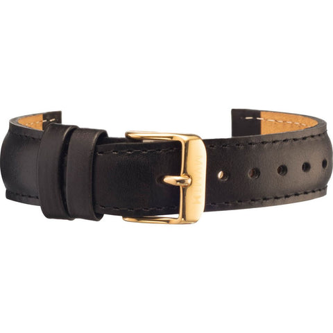 MVMT Women's 18mm Leather Strap | Black / Gold
