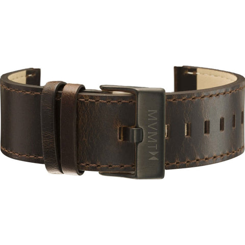 MVMT Men's 24mm Classic Leather Strap | Brown/Black