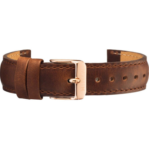 MVMT Women's 18mm Leather Strap | Brown / Rose Gold