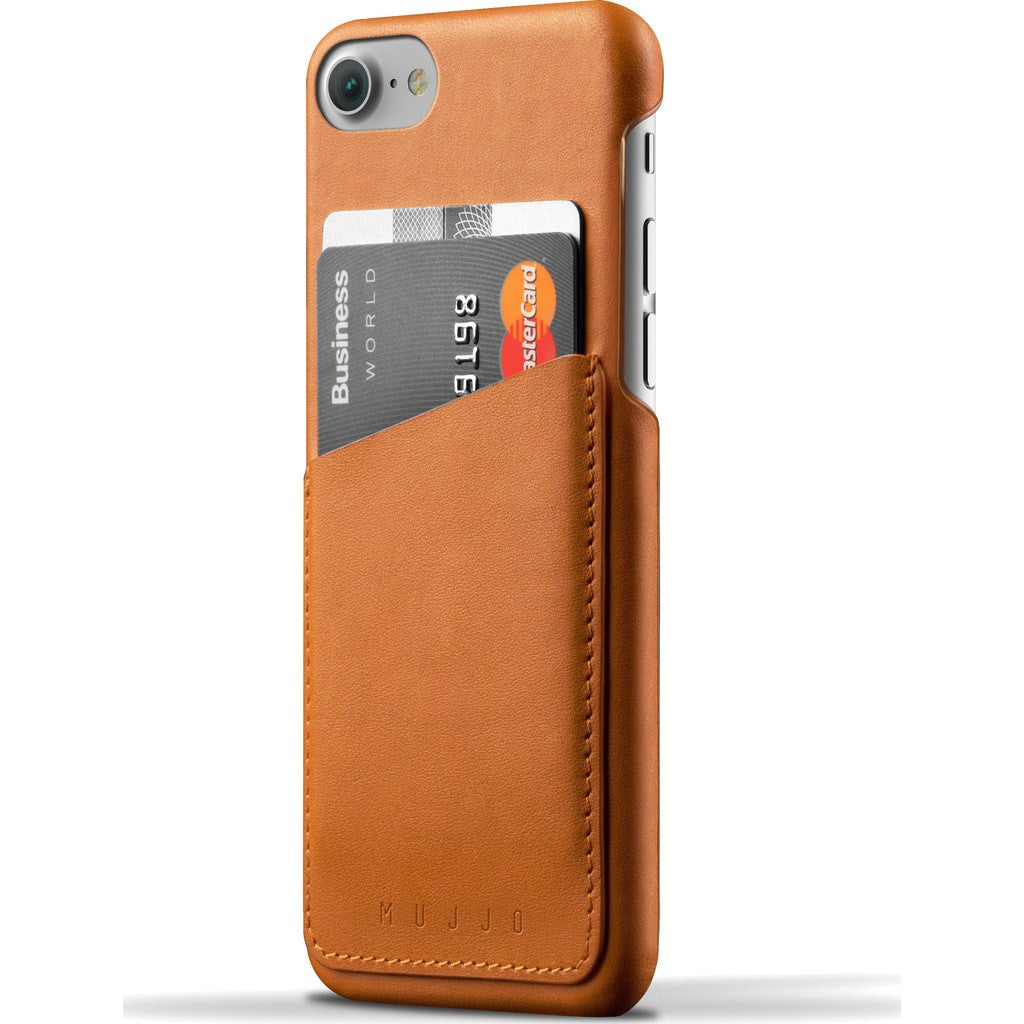 Mujjo Leather Wallet Case for iPhone 7 | Tan MUJJO-CS-020-TN