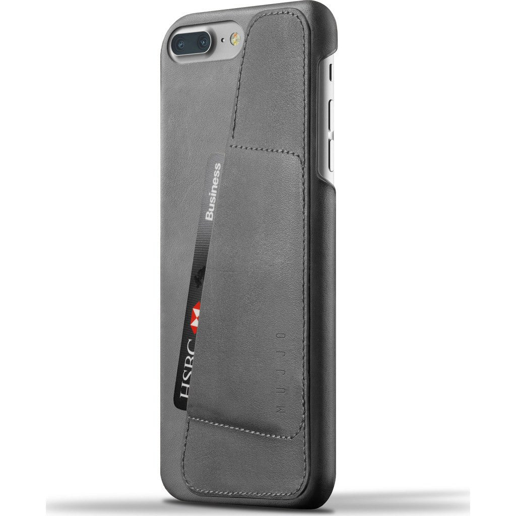 Mujjo Leather Wallet Case for iPhone 7 | Gray MUJJO-CS-020-GY