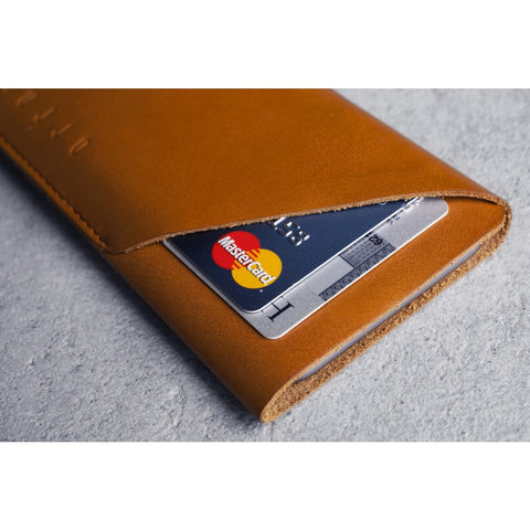 Mujjo Leather Wallet Sleeve for iPhone 7 | Tan MUJJO-SL-102-TN