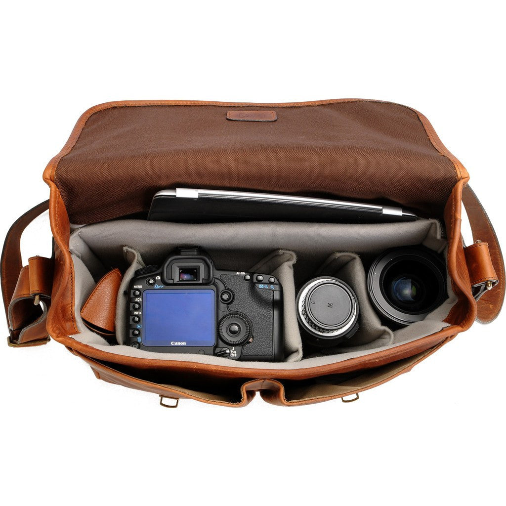 ONA Brixton Camera Messenger Bag | Antique Cognac ONA5-013LBR