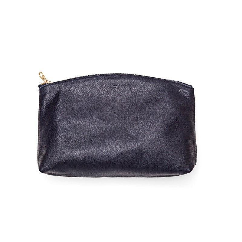 Baggu Small Leather Clutch | Navy
