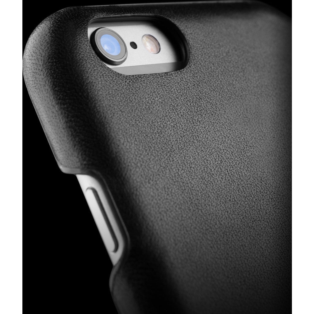 Mujjo Leather Case for iPhone 6(s) | Black MUJJO-SL-085-BK