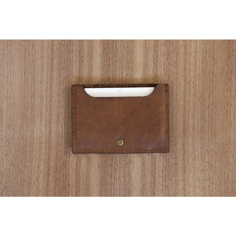 DODOcase Leather Card and Cash Wallet | Brown