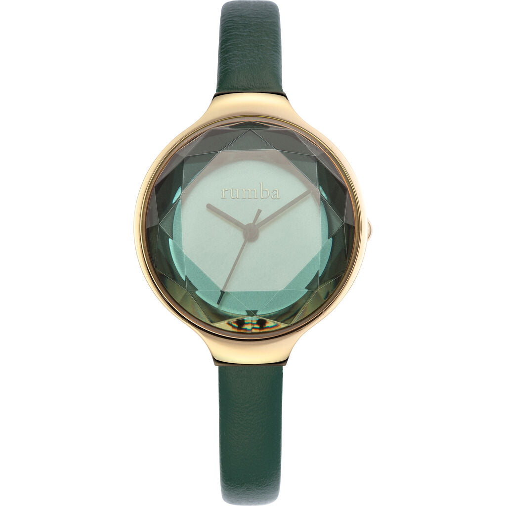 Rumba Time Orchard Gem Watch | Leather Evergreen 27563