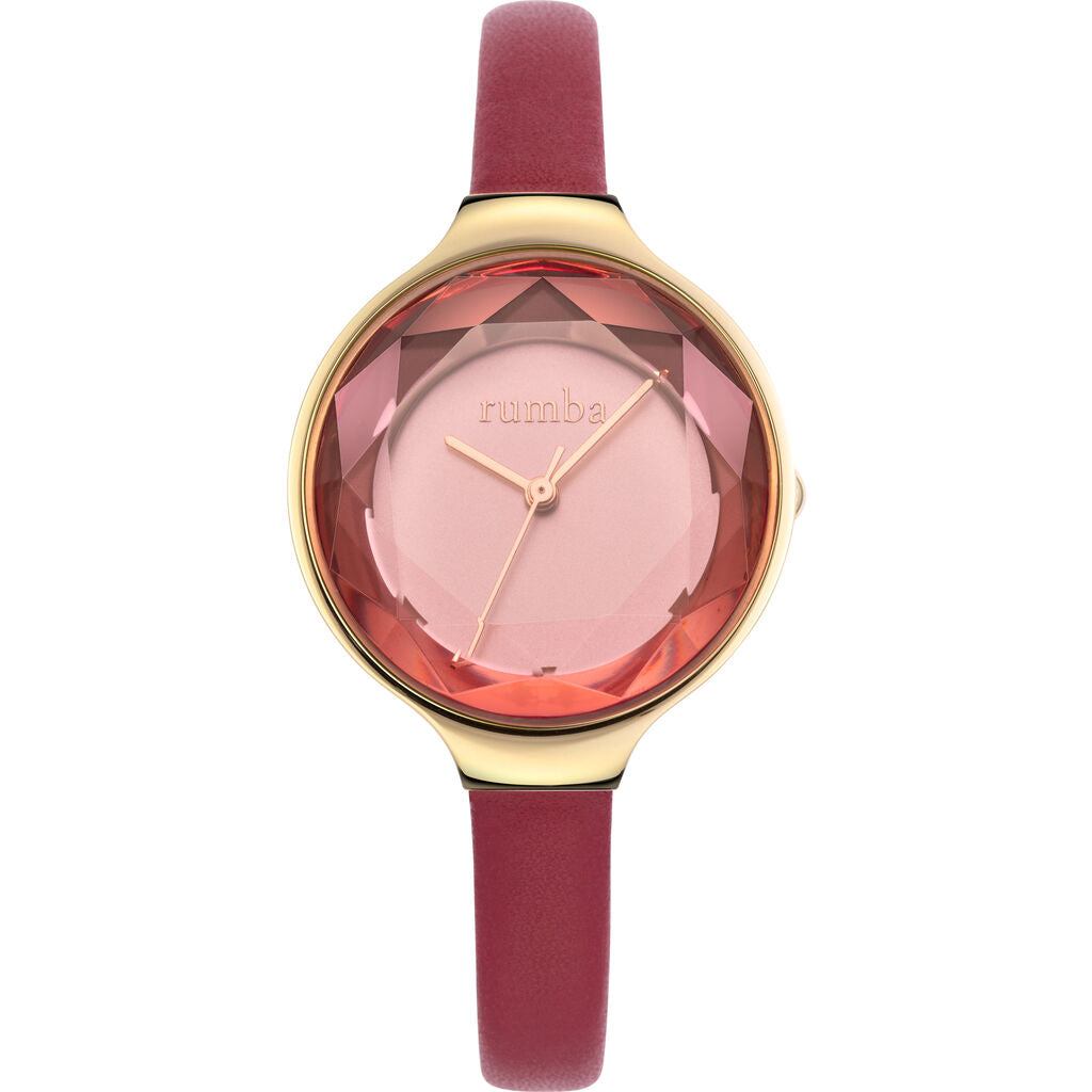 Rumba Time Orchard Gem Watch | Leather Merlot Watch 27570