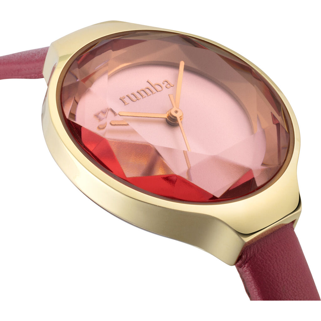 Rumba Time Orchard Gem Watch | Leather Merlot Watch 27571