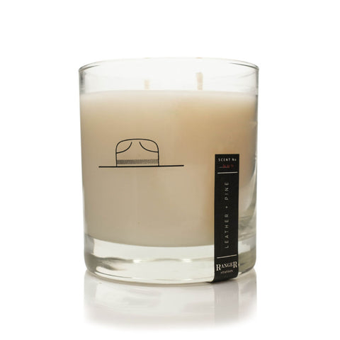 Ranger Station Soy Based Wax Candle | Leather + Pine RS_001
