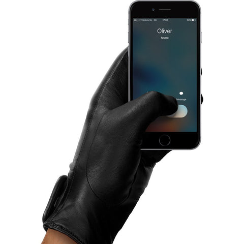 Mujjo Leather Touchscreen Gloves | Black Size 8 MUJJO-GLLT-016-80