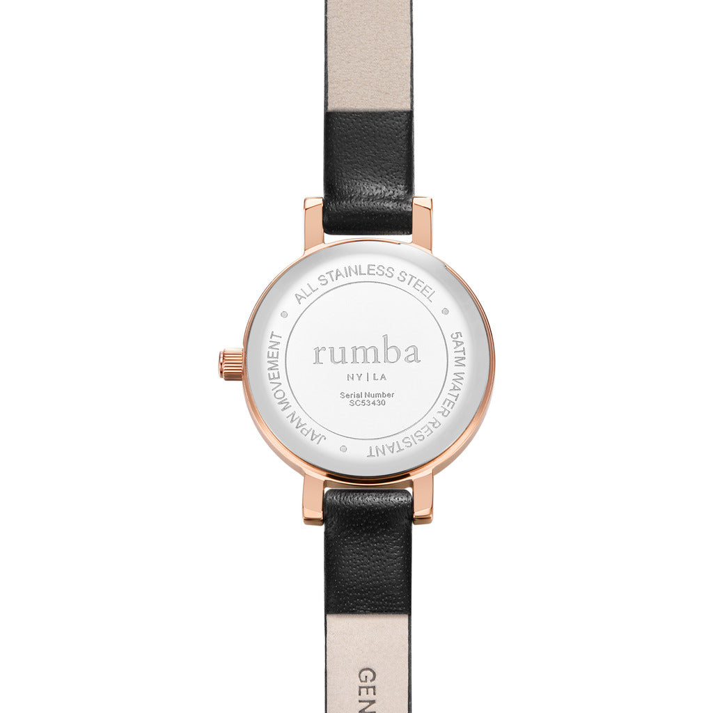 Rumba Time Venice Watch | Leather Rose Gold 27498