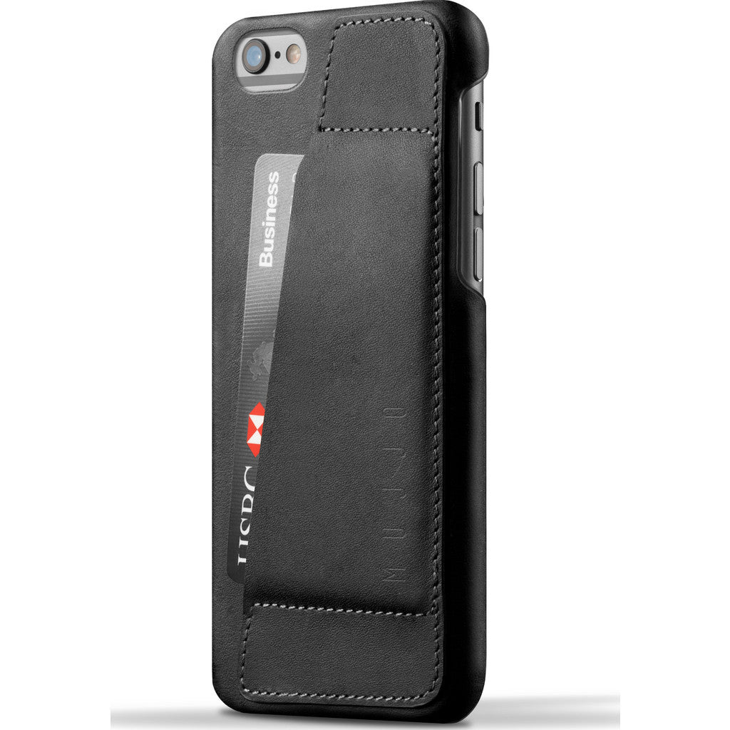 Mujjo Leather Wallet Case 80° for iPhone 6(s) | Black MUJJO-SL-083-BK