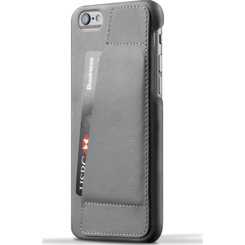Mujjo Leather Wallet Case 80° for iPhone 6s | Gray