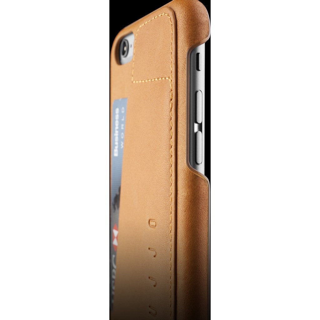 Mujjo Leather Wallet Case 80° for iPhone 6s | Tan