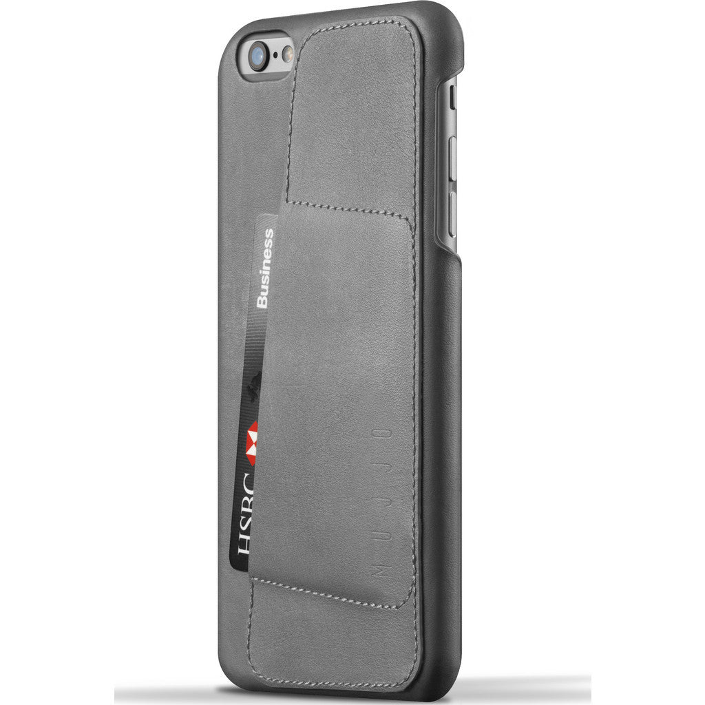 Mujjo Leather Wallet Case 80° for iPhone 6(s) Plus | Gray MUJJO-SL-084-GY