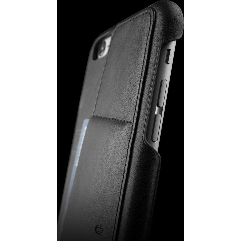 Mujjo Leather Wallet Case 80° for iPhone 6(s) Plus | Black MUJJO-SL-084-BK