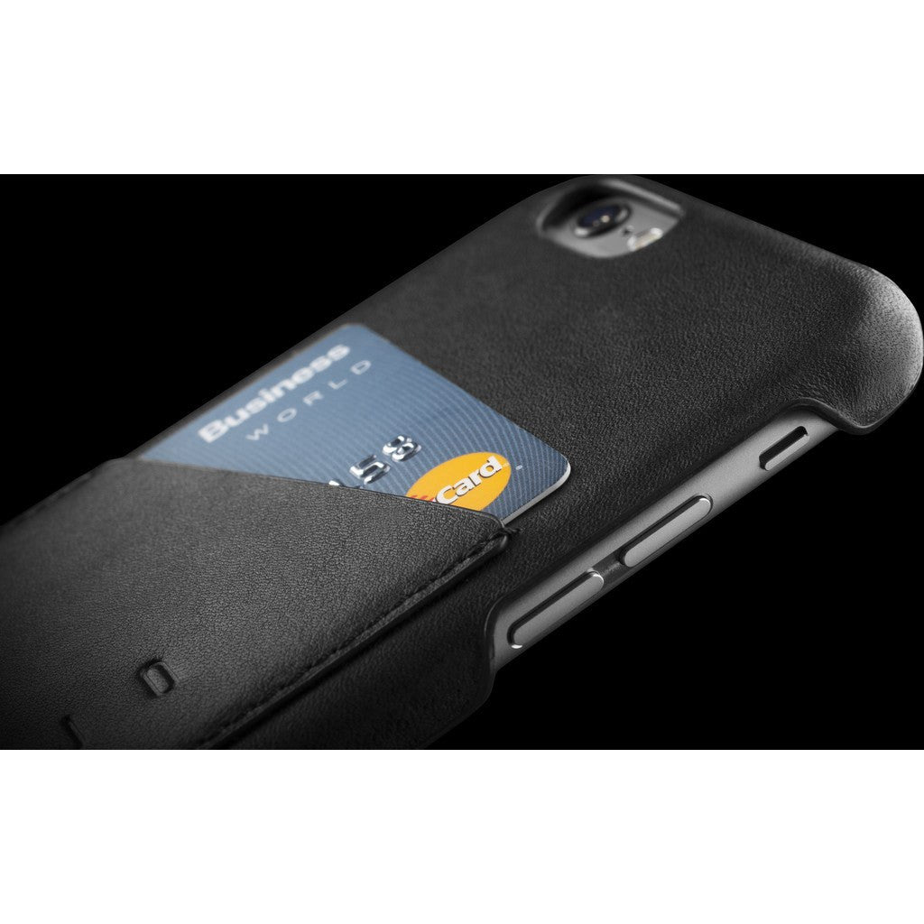 Mujjo Leather Wallet Case for iPhone 6(s) | Black MUJJO-SL-082-BK