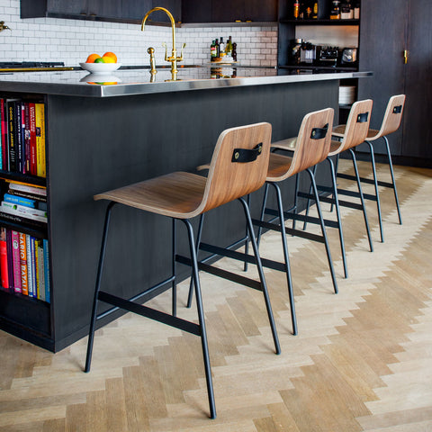 Gus* Modern Lecture Stool | Walnut ECOTLECT-wn