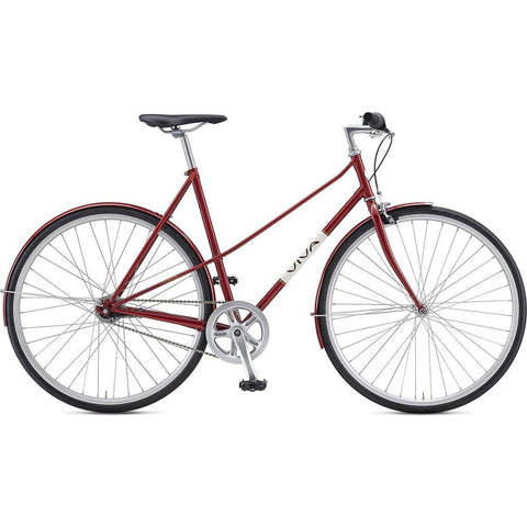 Viva Legato 7 Mixte City Bicycle | Red