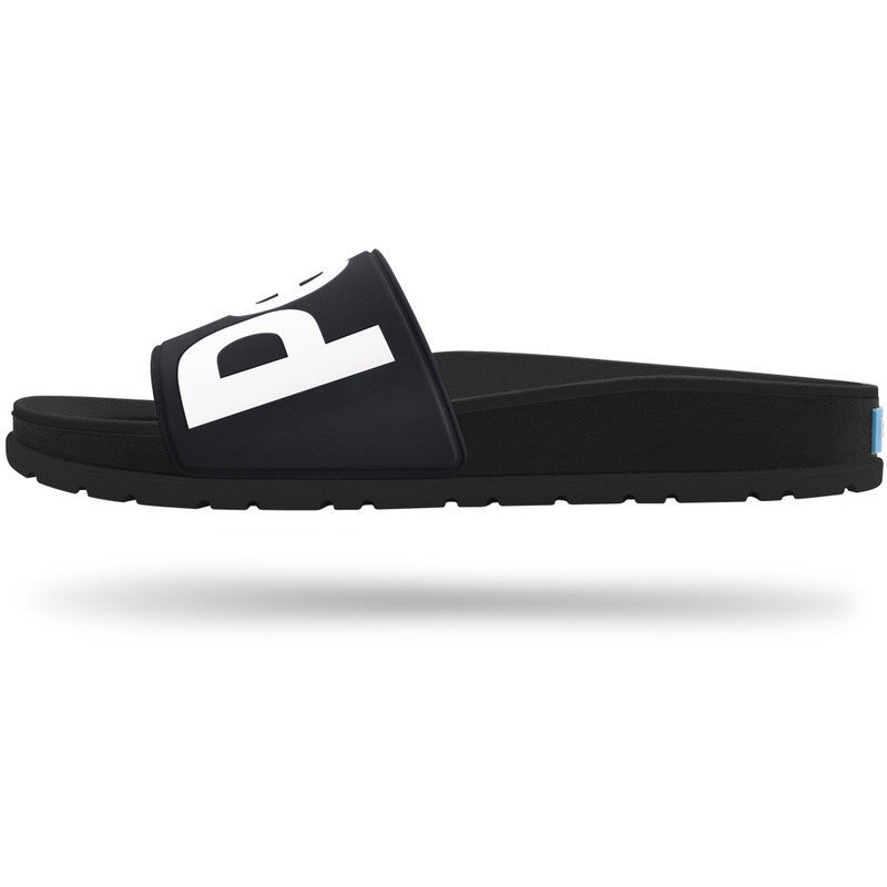 People Footwear Mens Lennon Slide Sandal | Really Black/Picket White